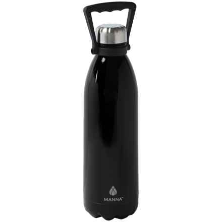 Manna Jumbo Vogue Stainless Steel Water Bottle - 50 fl.oz. in Black - Closeouts