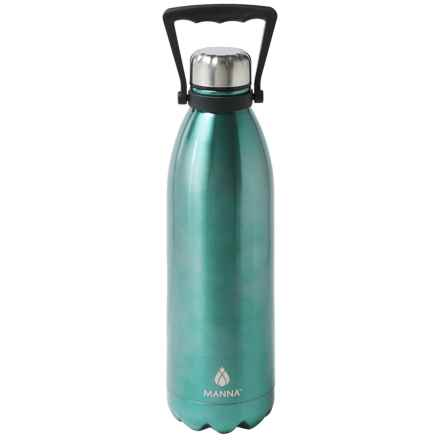 Manna Jumbo Vogue Stainless Steel Water Bottle - 50 fl.oz. in Shark Blue - Closeouts