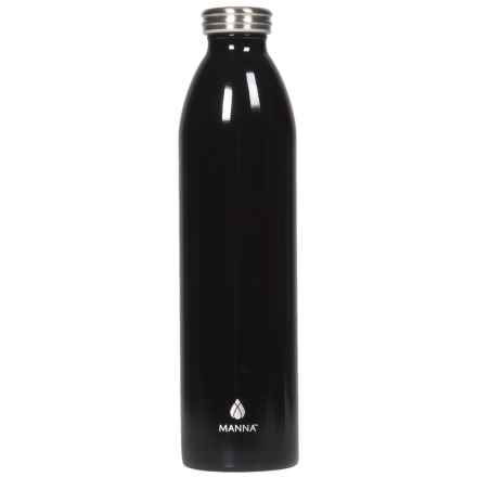 Manna Retro Stainless Steel Elemental Water Bottle - 32 fl.oz., Vacuum Insulated in Black - Closeouts