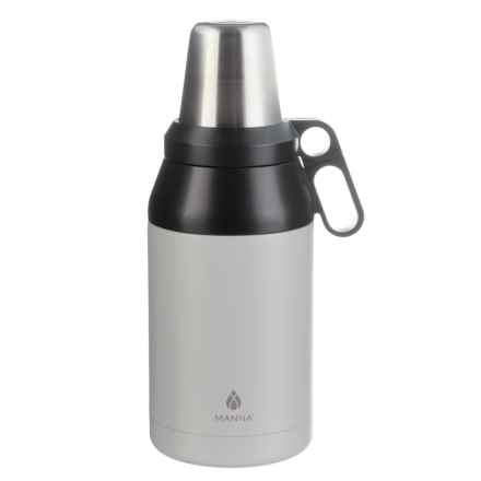 Manna Stack Growler with 4 Cups - 64 oz., Stainless Steel, Insulated in Cloud - Closeouts
