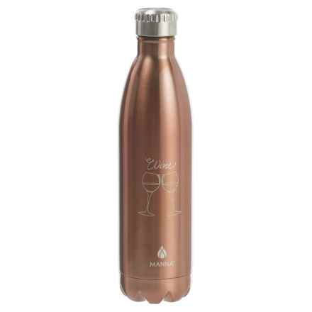 Manna Vogue Stainless Steel Wine Bottle - 25fl.oz., BPA-Free in Copper - Closeouts