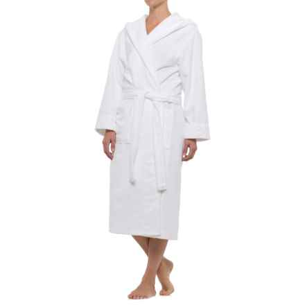 Mansfield Hotel & Spa Hooded Terry-Lined Plush Robe - Long Sleeve (For Women) in White - Closeouts