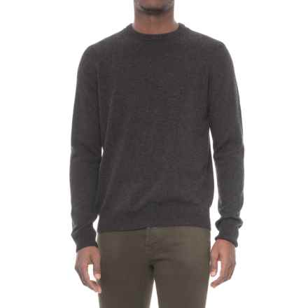 Mantovani Studios Cashmere Crew Neck Sweater (For Men) in Charcoal Heather - Closeouts