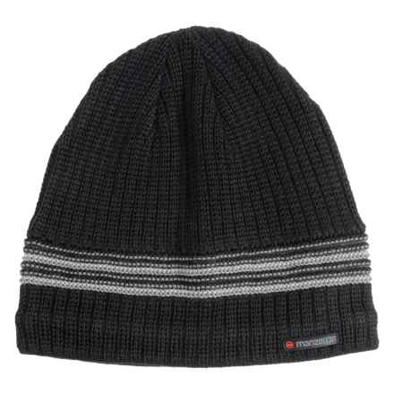 Manzella Allentown Beanie - Wool Blend (For Men) in Black - Closeouts