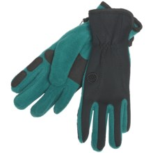 Manzella Equinox Gloves - Windproof, Fleece (For Women) in Dark Teal - Closeouts