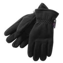 Manzella Insulated Fleece Gloves - Gore Windstopper®  (For Men) in Black - Closeouts