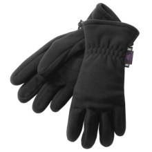 Manzella Insulated Fleece Gloves - Gore Windstopper®  (For Women) in Black - Closeouts