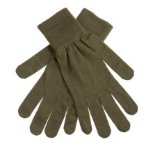 Manzella Merino Wool Liner Gloves  (For Men) in Olive - Closeouts