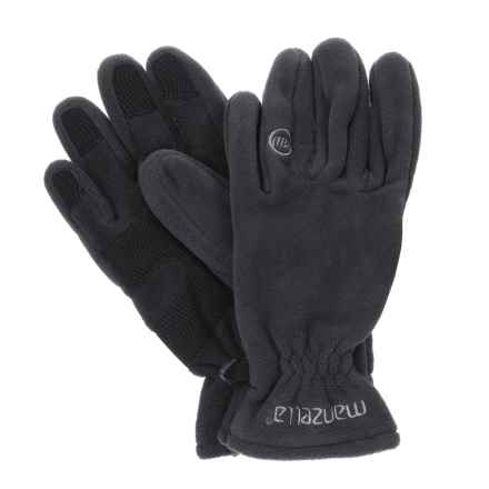 Manzella Polartec ® Wind Pro®-10 Fleece Gloves (For Women) in Black - Closeouts