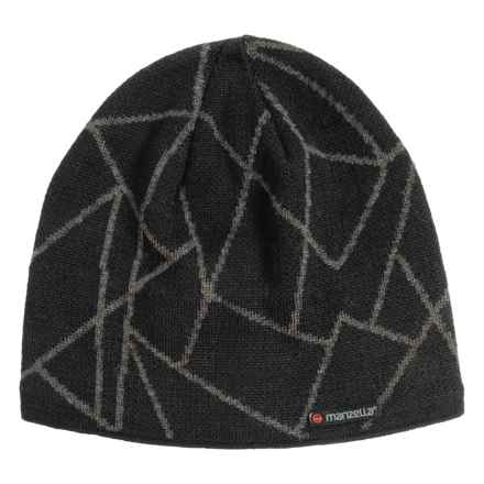 Manzella Schiller Beanie - Wool Blend (For Men) in Black - Closeouts