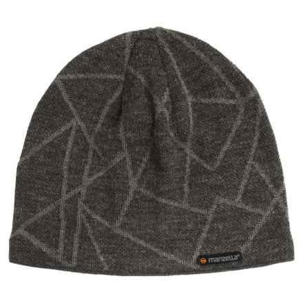 Manzella Schiller Beanie - Wool Blend (For Men) in Charcoal - Closeouts