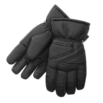 Manzella Ski Gloves - Waterproof  (For Men) in Black