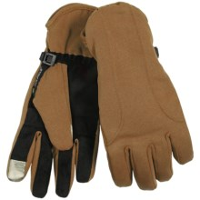 Manzella Soft Shell Commuter Gloves - TouchTip (For Women) in Light Brown - Closeouts