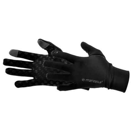 Manzella Sprint TouchTip Gloves (For Men) in Black - Closeouts