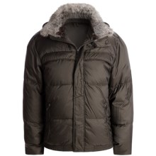 Marc New York by Andrew Marc Arctic Ultra Down Jacket - Rabbit Fur Collar (For Men) in Espresso - Closeouts