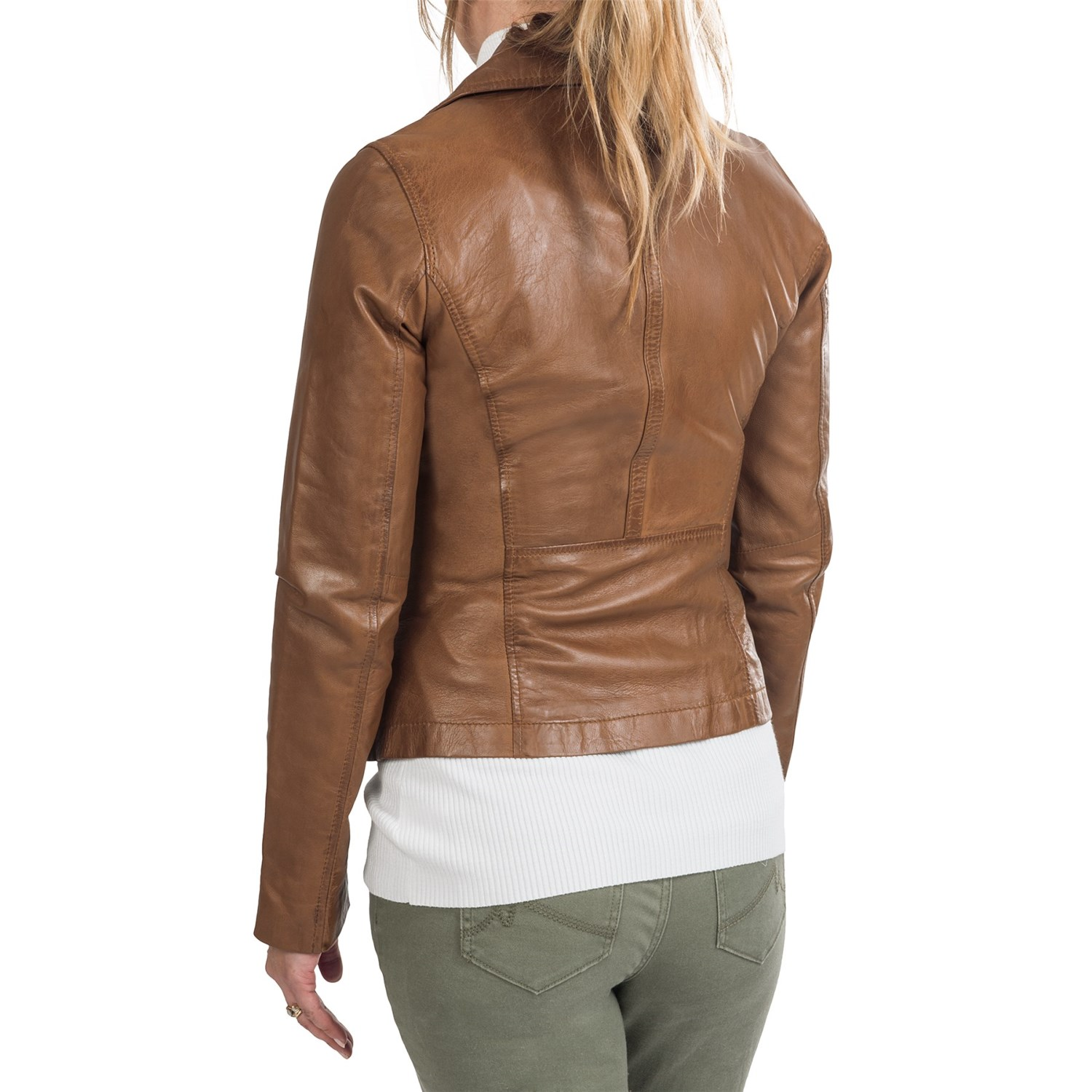 6712M_2 Marc New York by Andrew Marc Brianna Jacket - Distressed Leather (For Women