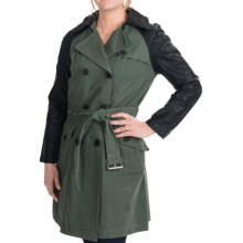Marc New York by Andrew Marc Carli Vintage Canvas Coat (For Women) in Olive - Closeouts