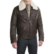 Marc New York by Andrew Marc Carmine II Aviator Jacket - Distressed Leather (For Men) in Brown - Closeouts