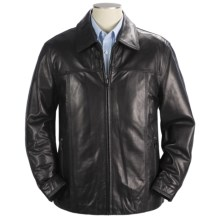 Marc New York by Andrew Marc Carter Coat - Polished Lamb Leather (For Men) in Black - Closeouts