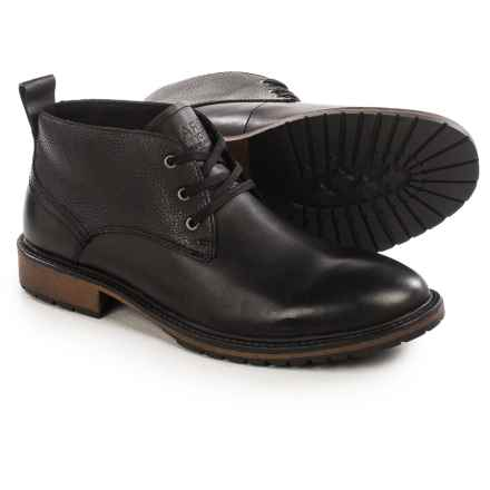 Marc New York by Andrew Marc Essex Chukka Boots - Leather (For Men) in Black/Cymbal - Closeouts