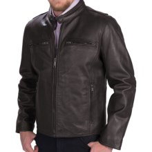 Marc New York by Andrew Marc Lamar Moto Jacket - Leather (For Men) in Black - Closeouts