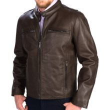 Marc New York by Andrew Marc Lamar Moto Jacket - Leather (For Men) in Brown - Closeouts