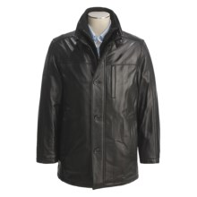 Marc New York by Andrew Marc Leather Car Coat - Smooth Lamb, Insulated (For Men) in Black - Closeouts