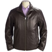 Marc New York by Andrew Marc Lewis Jacket - Lamb Leather, Insulated (For Men) in Brown - Closeouts
