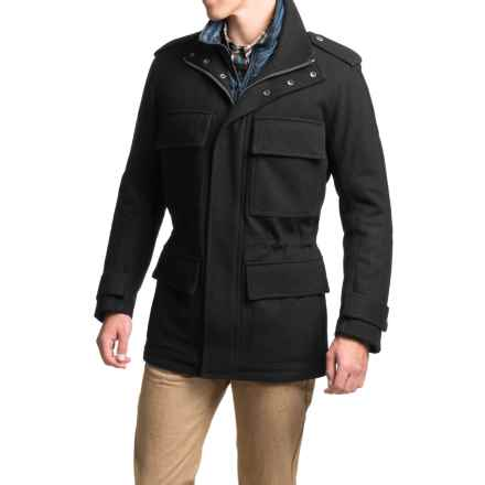 Marc New York by Andrew Marc Liberty Melton Wool Coat - Insulated (For Men) in Black - Closeouts