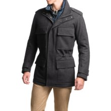Marc New York by Andrew Marc Liberty Melton Wool Coat - Insulated (For Men) in Charcoal - Closeouts