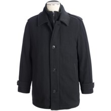 Marc New York by Andrew Marc Lloyd Top Coat - Wool (For Men) in Black - Closeouts