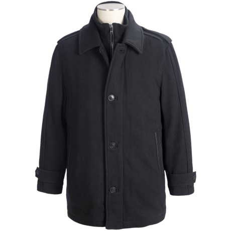 Marc New York by Andrew Marc Lloyd Top Coat - Wool (For Men) in Black