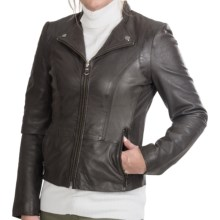 Marc New York by Andrew Marc Lola Jacket - Tumbled Leather (For Women) in Anthracite - Closeouts