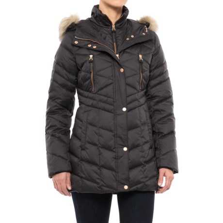 Marc New York by Andrew Marc Marley Matte Down Coat - Insulated (For Women) in Gunmetal