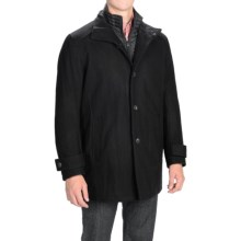 Marc New York by Andrew Marc Morningside Coat - Wool Blend, Quilted Bib (For Men) in Black - Closeouts