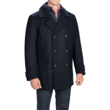 Marc New York by Andrew Marc Mulberry Coat - Melton Wool Blend, Insulated (For Men) in Black - Closeouts