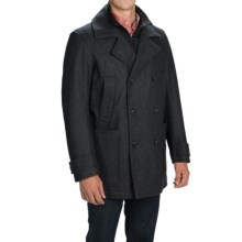 Marc New York by Andrew Marc Mulberry Coat - Melton Wool Blend, Insulated (For Men) in Charcoal - Closeouts