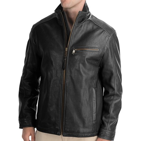 Marc New York by Andrew Marc Nolan Leather Jacket - Rugged Lamb (For Men) in Espresso