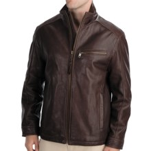 Marc New York by Andrew Marc Nolan Leather Jacket - Rugged Lamb (For Men) in Espresso - Closeouts
