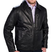 Marc New York by Andrew Marc Serge Bomber Jacket - Leather (For Men) in Black - Closeouts