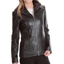 Marc New York by Andrew Marc Skye Jacket - Lamb Leather (For Women) in Black - Closeouts