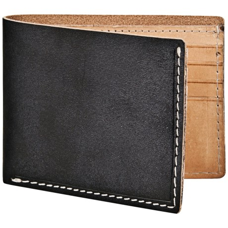 Marc New York by Andrew Marc Slimfold Wallet - Hand-Stained Leather in Black