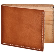 Marc New York by Andrew Marc Slimfold Wallet - Hand-Stained Leather in Cognac - Closeouts