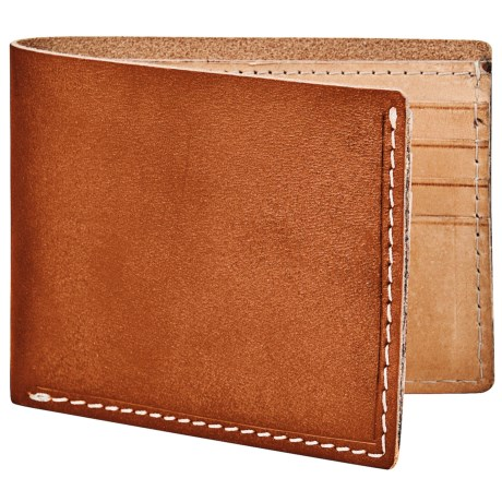Marc New York by Andrew Marc Slimfold Wallet - Hand-Stained Leather in Brown