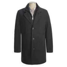 Marc New York by Andrew Marc Top Coat - Wool Twill (For Men) in Charcoal - Closeouts