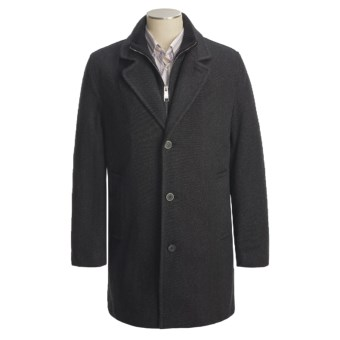 Marc New York by Andrew Marc Top Coat - Wool Twill (For Men) in Charcoal