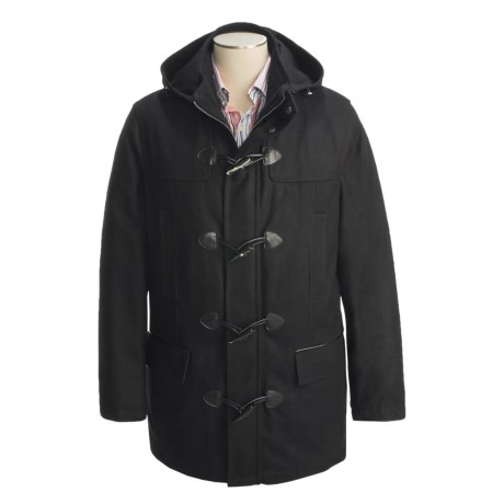 Marc New York by Andrew Marc Wool Duffle Coat - Insulated (For Men) in Charcoal
