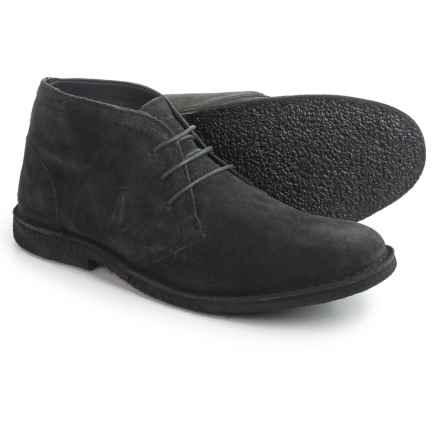 Marc New York byAndrew Marc Walden Chukka Boots - Leather (For Men) in Dark Grey Suede - Closeouts