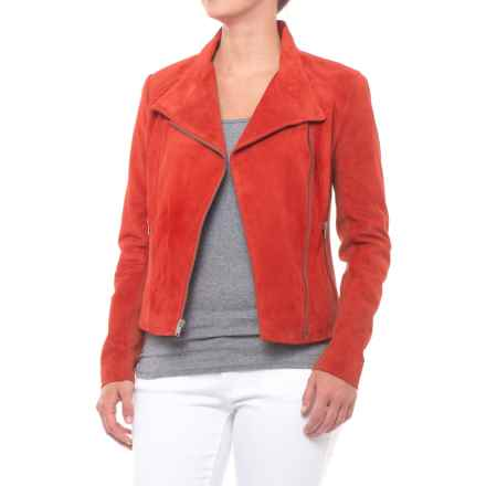 Marc New York Laney Suede Jacket (For Women) in Paprika - Closeouts