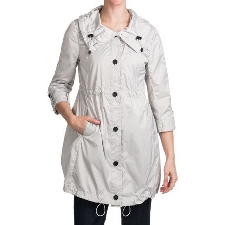 Marc New York Lindsey Light Rain Coat (For Women) in Fog